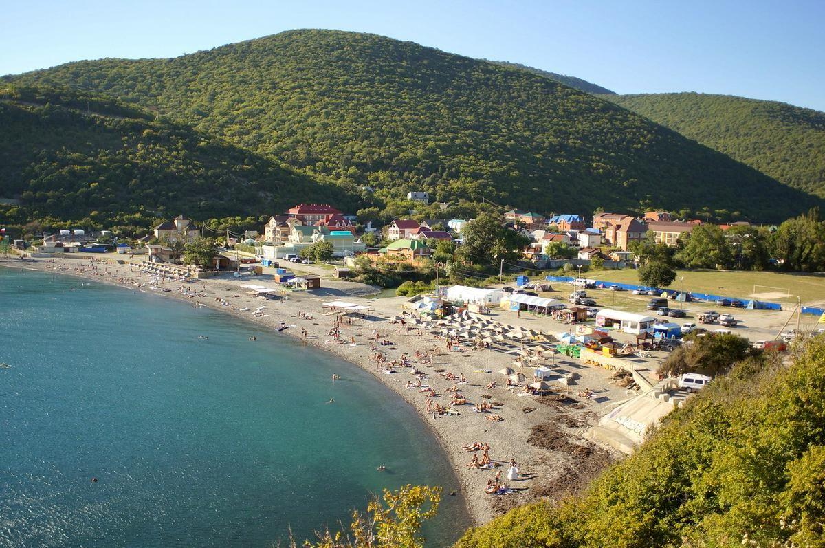 Широкая балка фото поселка и пляжа 2018