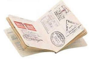 Загранпаспорт со штампами