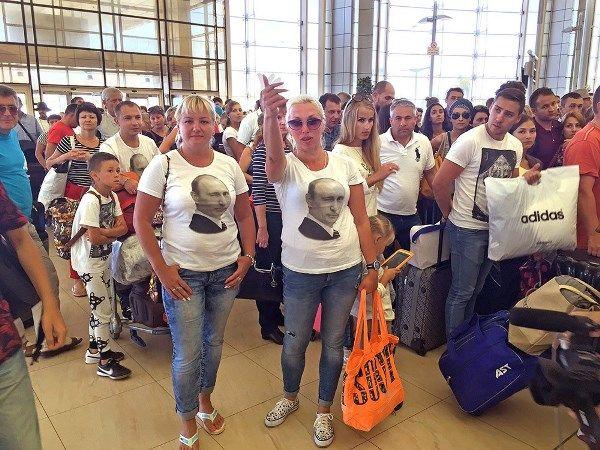 российские туристы в египте
