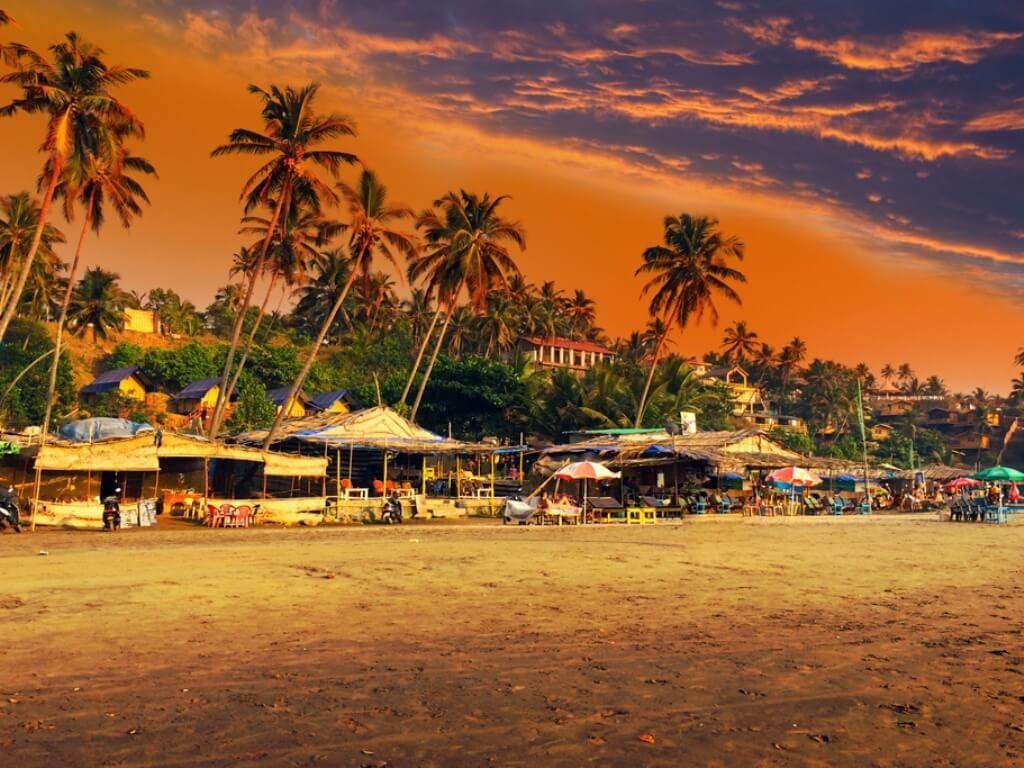 фото пляжный шек в Гоа