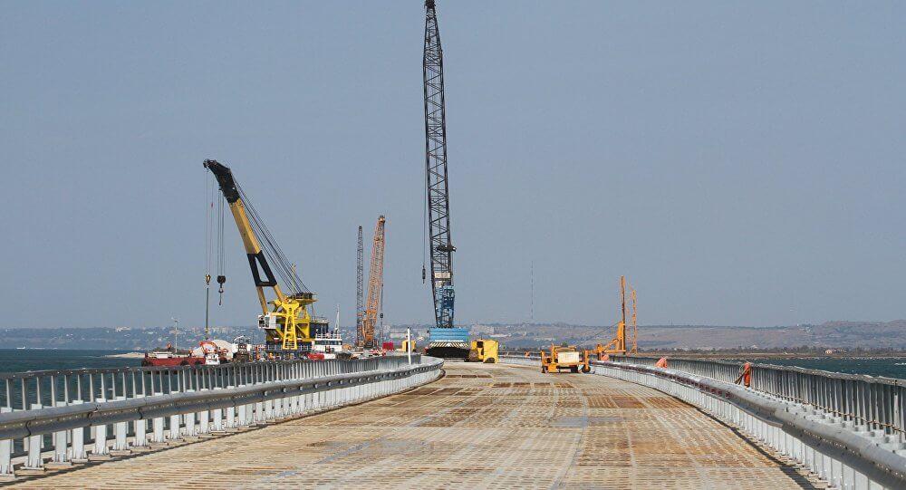 фото строительство моста сегодня