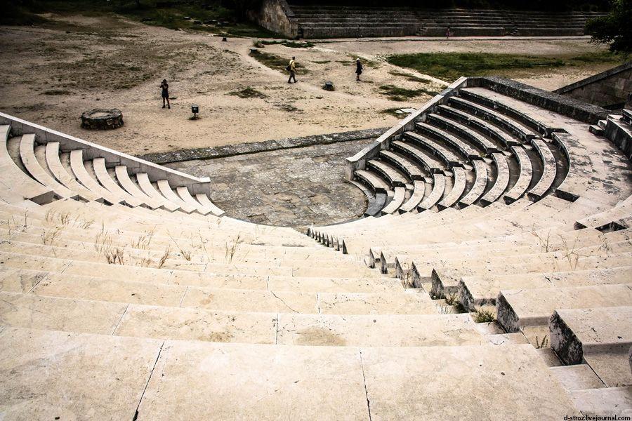 фото мраморный театр в акрополе