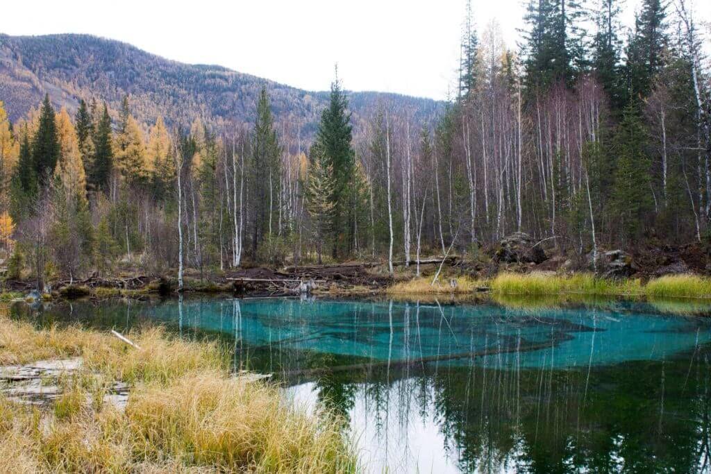 Алтай, голубое озеро