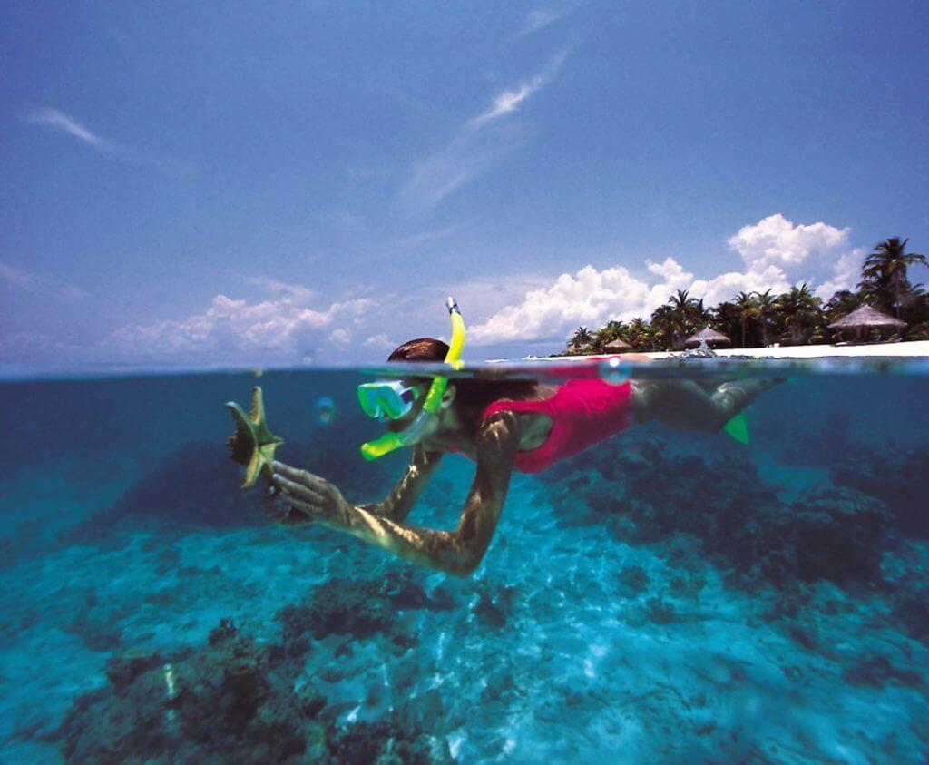 фото снорклинга на Мальдивских островах