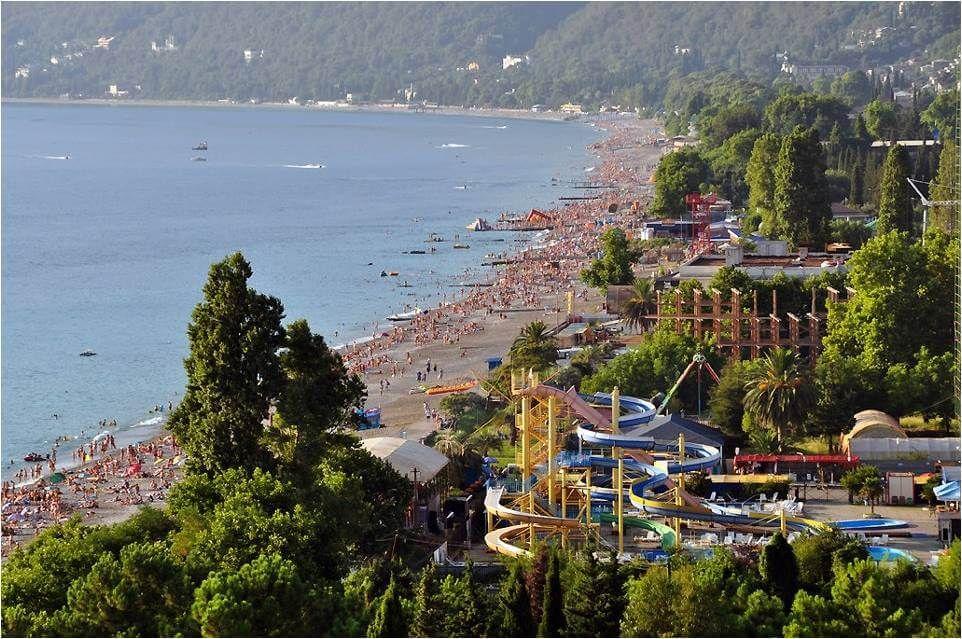гагра отели на берегу моря с питанием