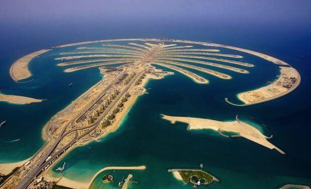 """Искусственные острова """"Пальмы"""" в Дубае"""