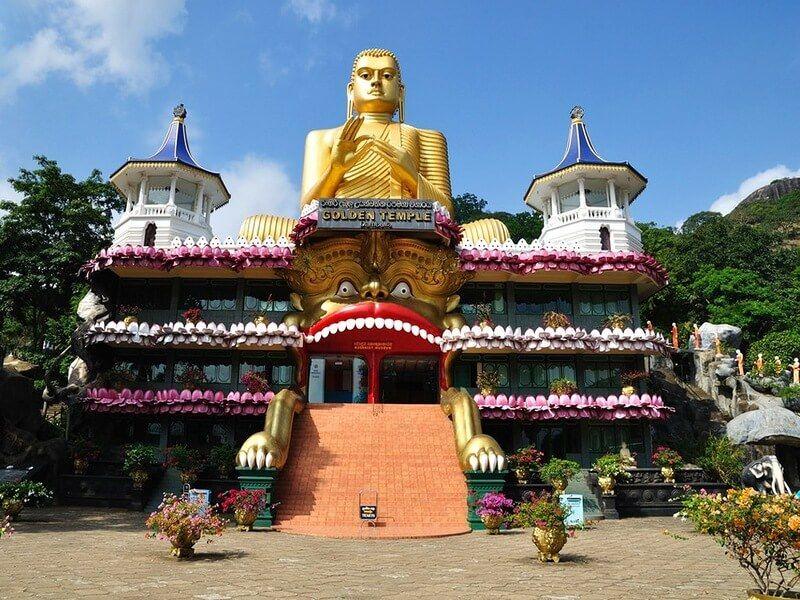 фото золотого храма Дамбулла