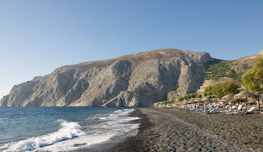 Пляж Камари Санторини