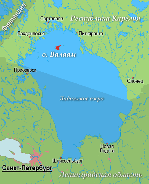фото острова Валаам на карте