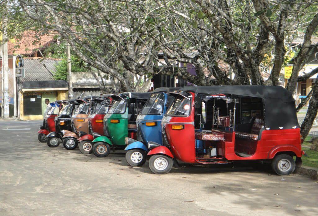 способы передвижения по Шри-Ланке