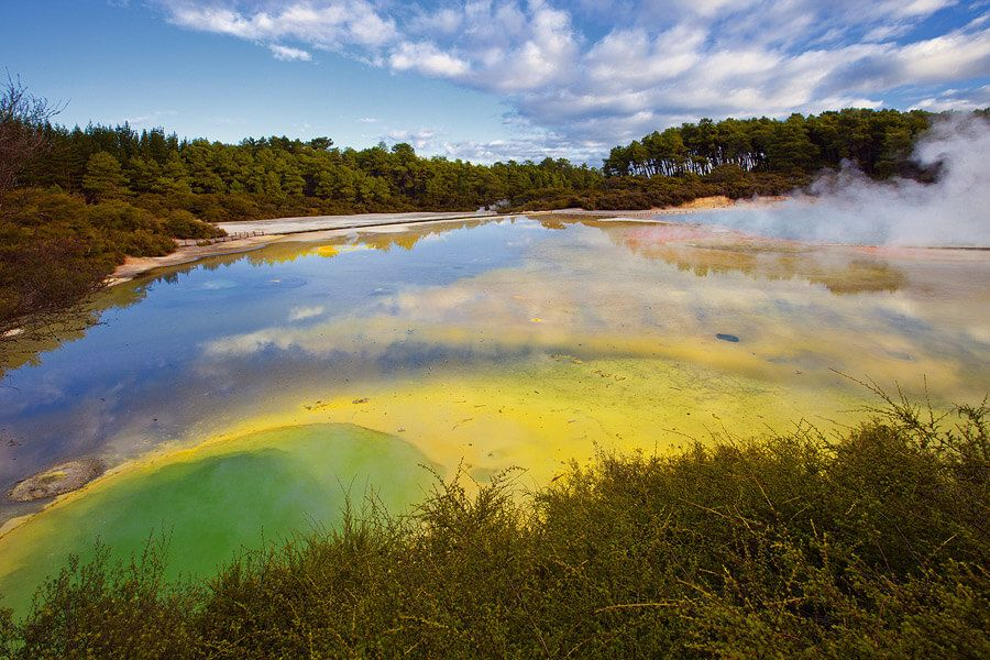 Озеро Палитра Художника в Новой Зеландии