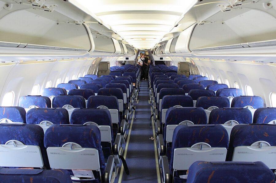 салон самолёта Airbus