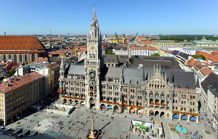 Мюнхен площадь Марии