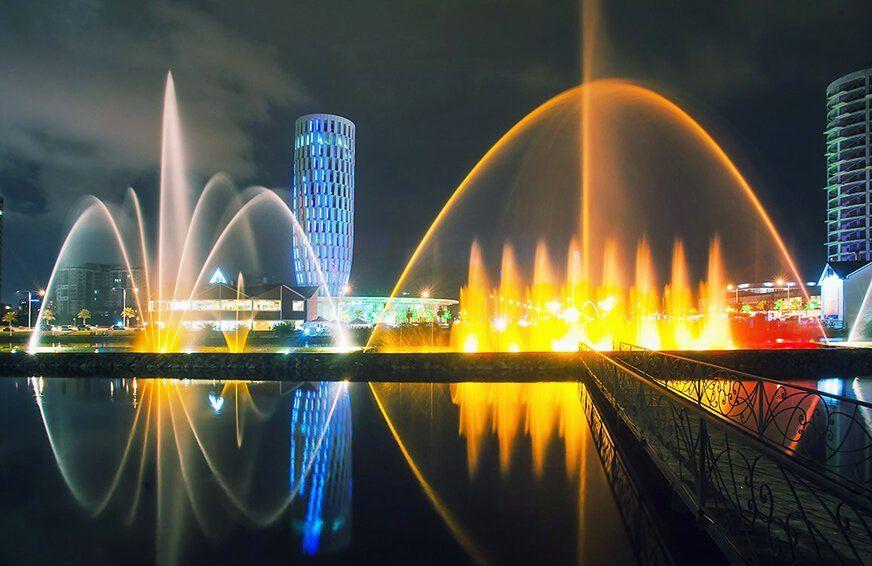 Ардоганское озеро фонтаны