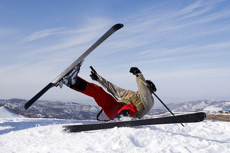 падение с лыж