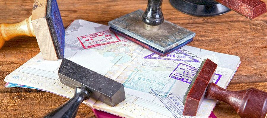 печати стран визы