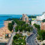 Самара вид на город и пляж