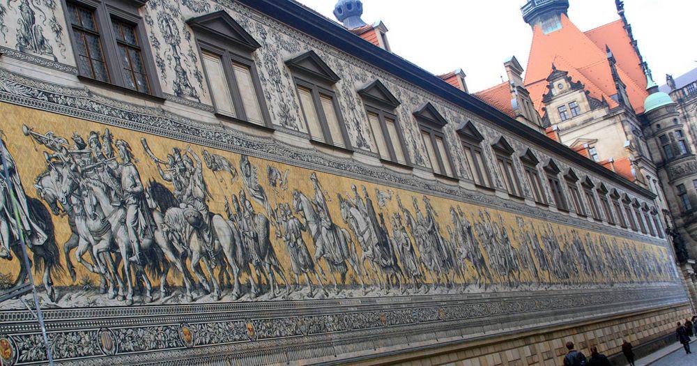 Панно шествие курфюрстов, Дрезден, Германия