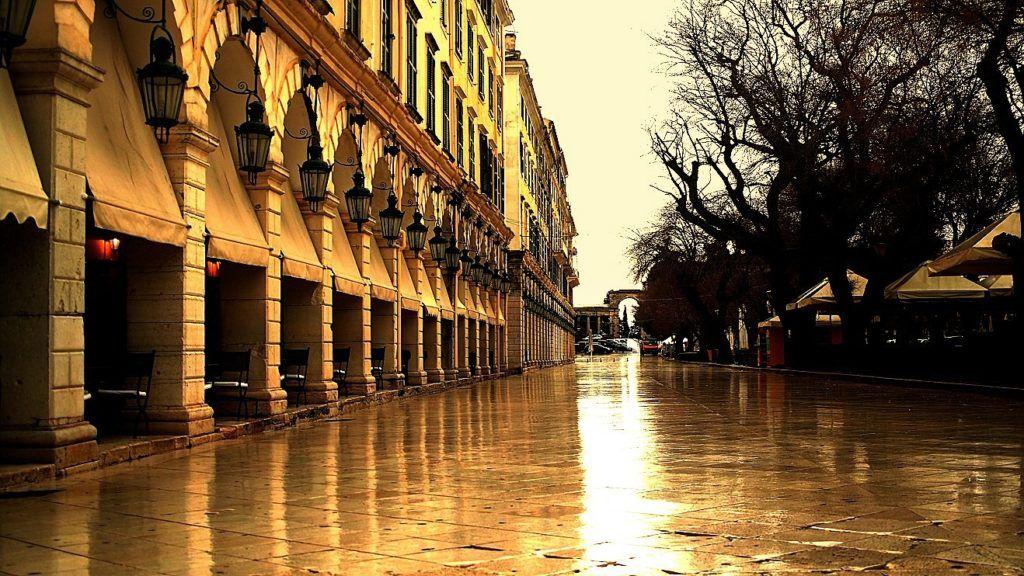 Улица Листон, Керкире, остров Корфу, Греция