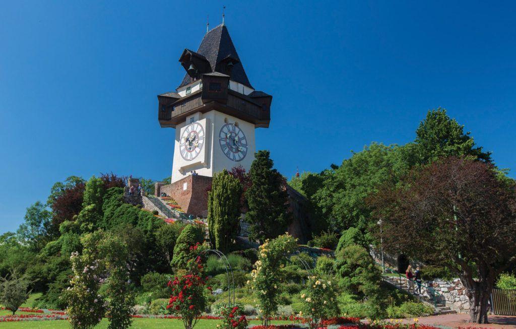 Часовая башня Шлоссберга, Грац, Австрия