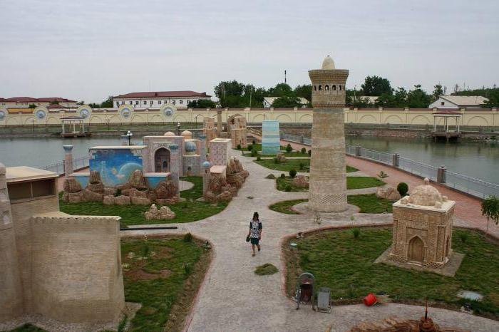 Парк миниатюрных копий достопримечательностей Узебкистана в Ургенче