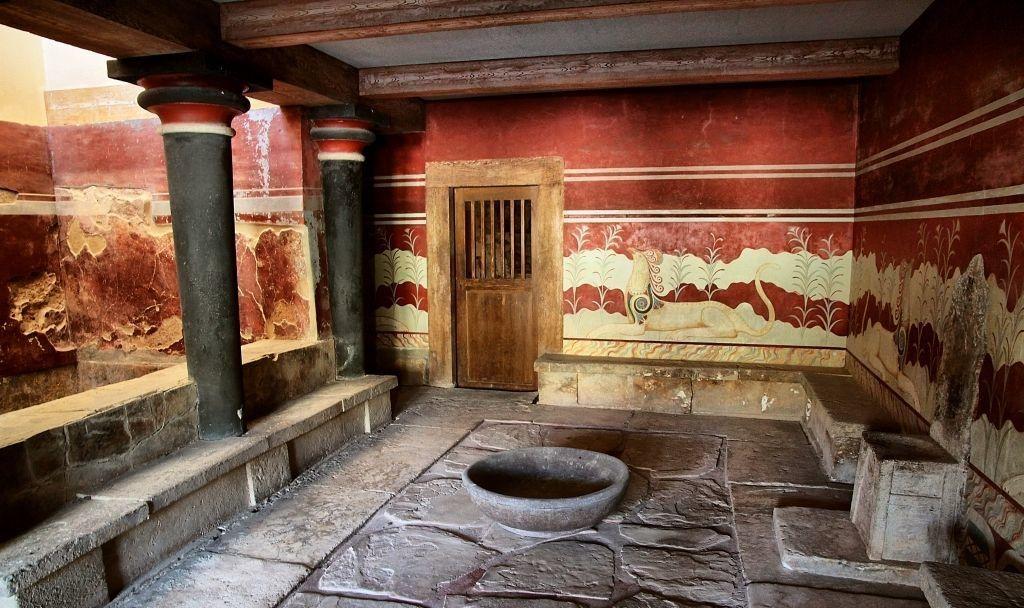 Тронный зал Кносского дворца, Ираклион