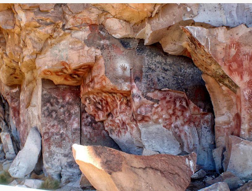 Пещера рук на юге Аргентины