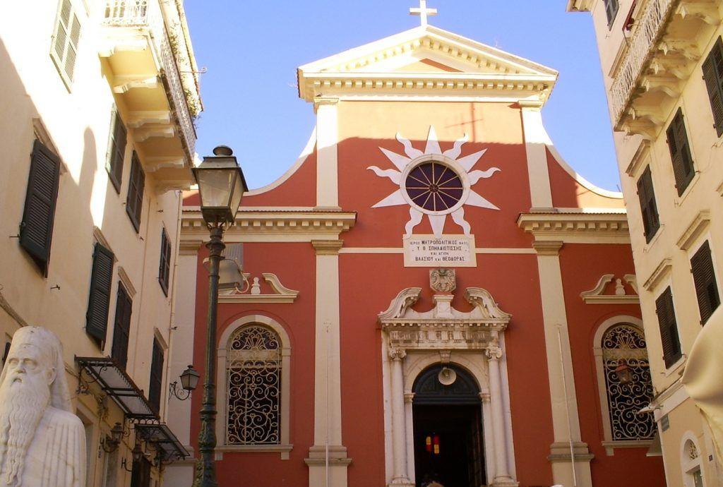 Кафедральный храм Керкирской митрополии Элладской православной церкви, остров Корфу, Греция