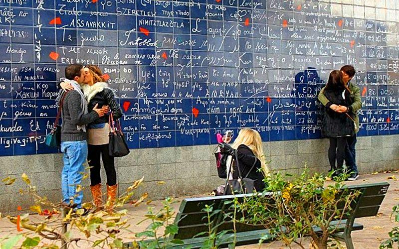 Стена любви, Монмартр, Париж
