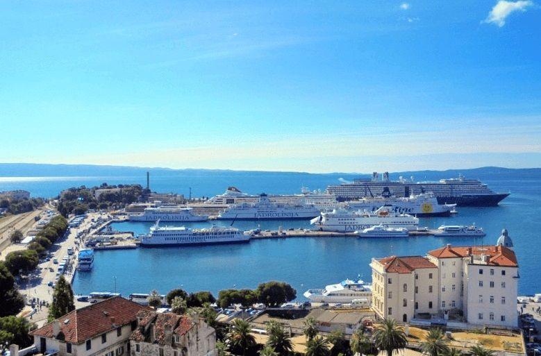Круизный порт города Сплит