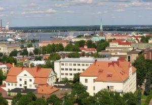 Город Котка в Финляндии