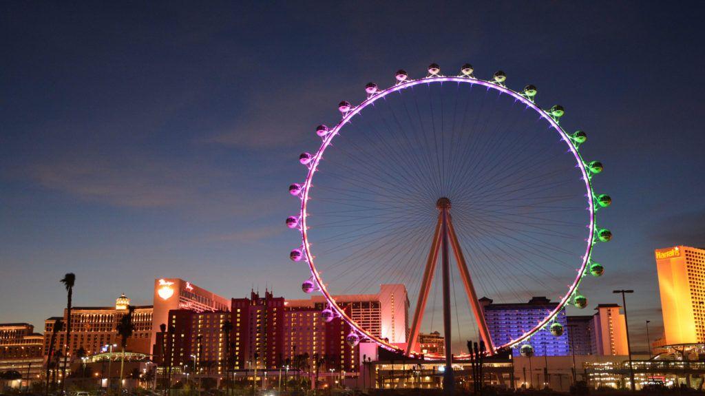 Самое высокое колесо обозрения - «Хай Роллер» в Лас-Вегасе