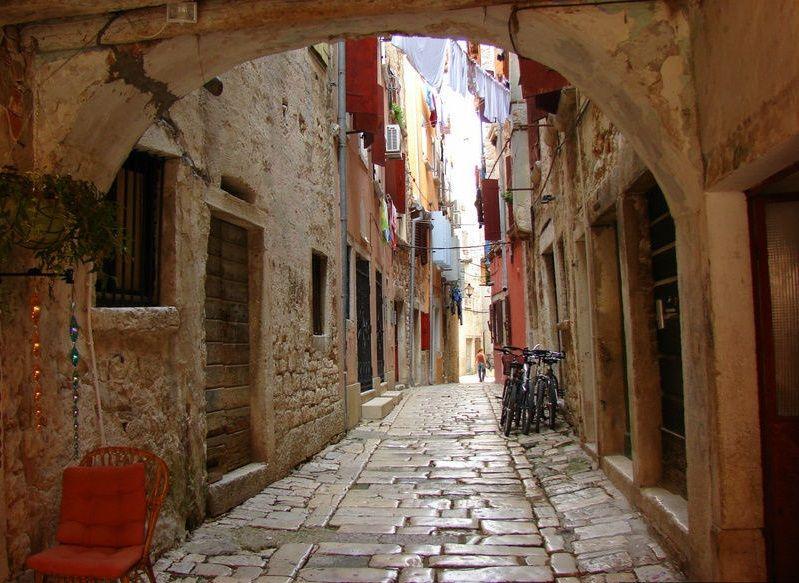 Улицы в Старом городе, Ровинь, Хорватия