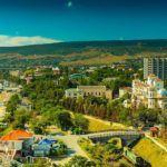 Курортный город Феодосия в Крыму