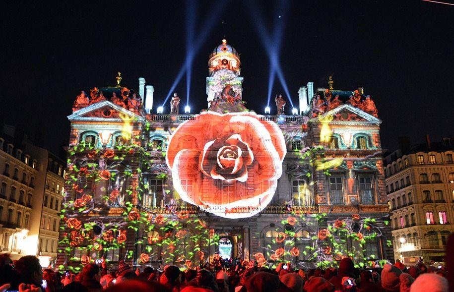 Фестиваль света в Лионе, Франция