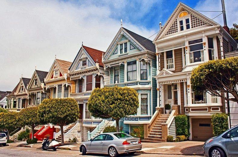 """Дома """"Разукрашенные леди"""" в Сан-Франциско"""