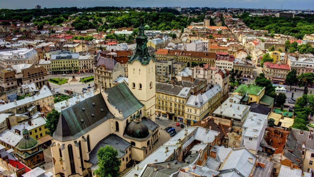 Город Львов в Украине
