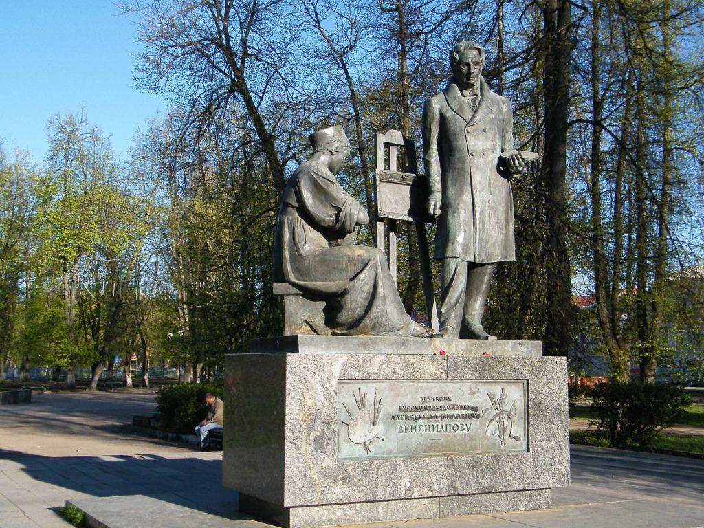 Памятник Венецианову в Вышнем Волочке