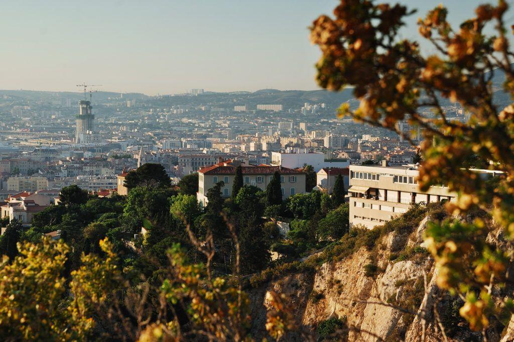 Вид на город Марсель