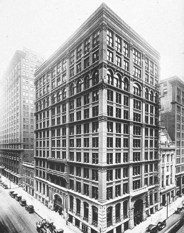 Первый небоскреб (здание домового страхования) в Чикаго