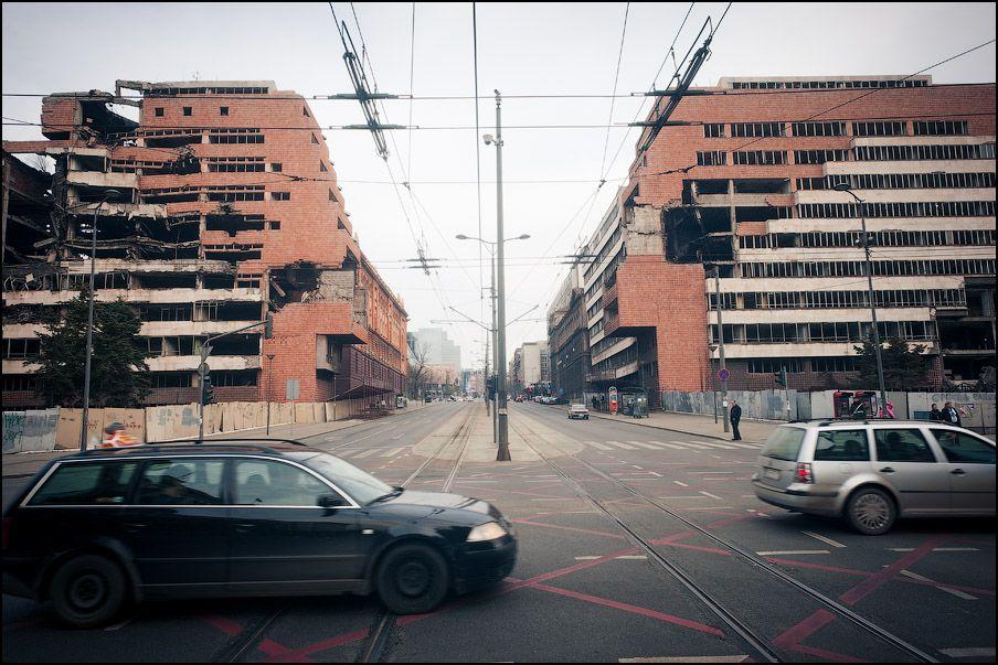 Сербия, Белгород, Развалины, оставшиеся после бомбардировки