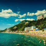 Курортный город Алушта в Крыме