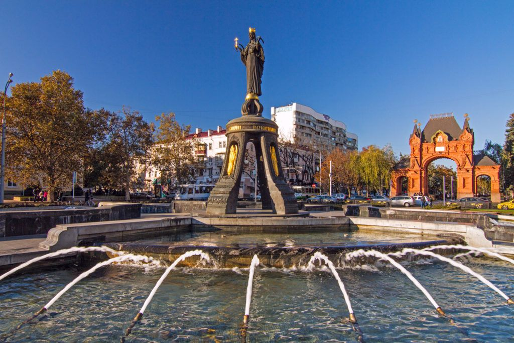 Памятник Святой великомученице Екатерине в Краснодаре
