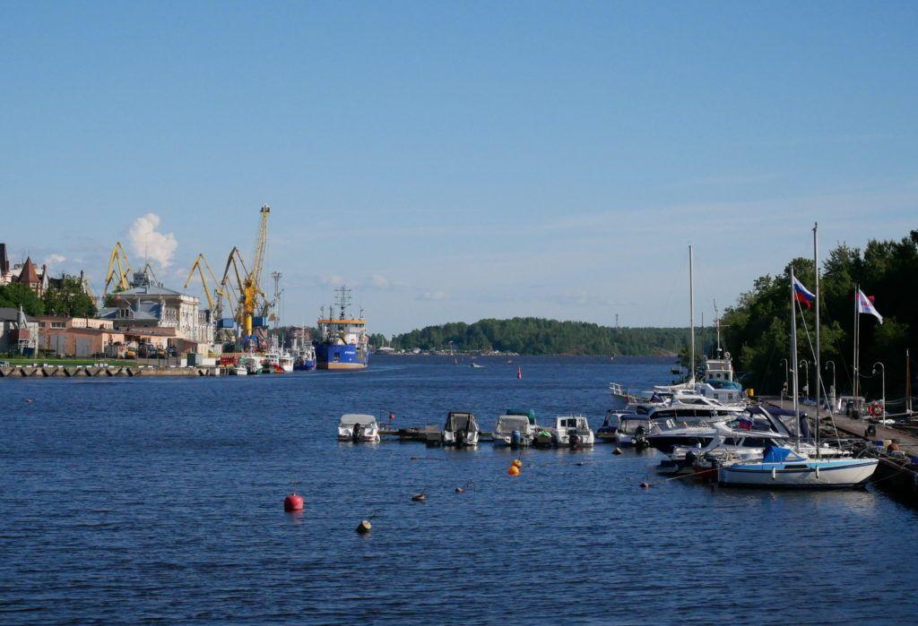 Порт в городе Выборг