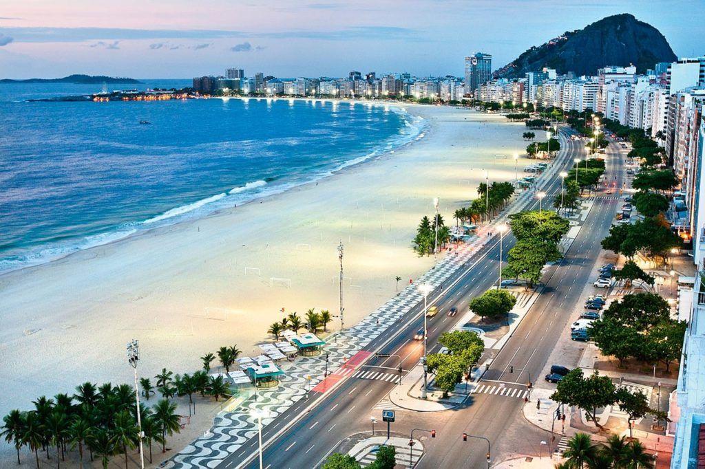 Бразилия, Рио де Жанейро, Пляж Копакабана