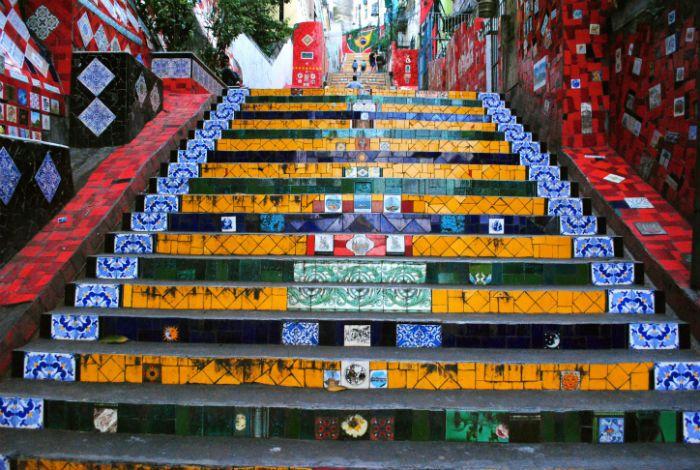 Лестница Селарона в Рио-де-Жанейро