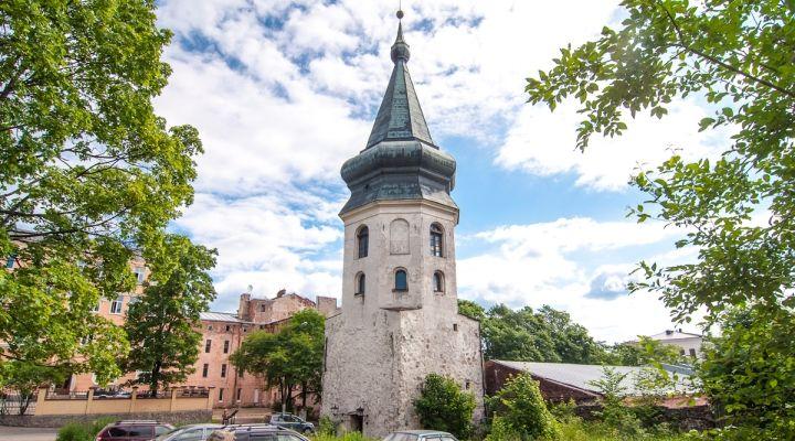 Башня ратуши в городе Выборг