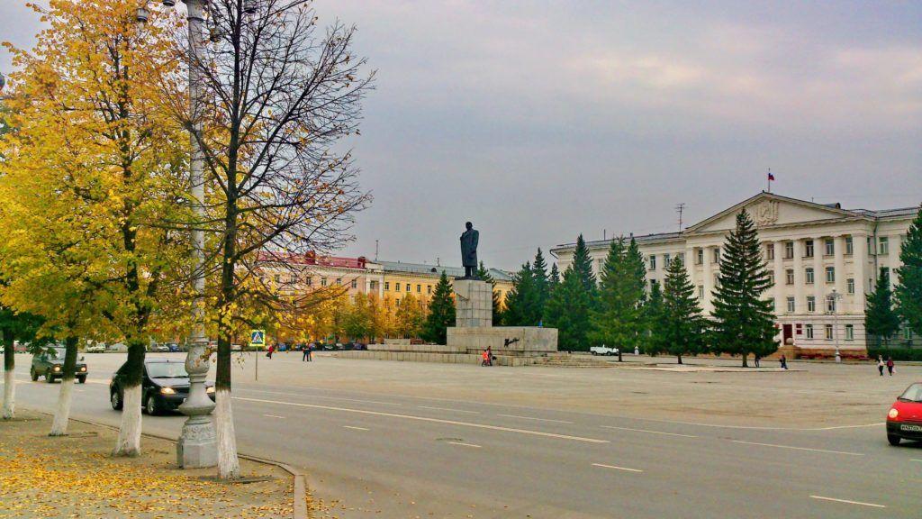 Площаль Ленина в Кургане