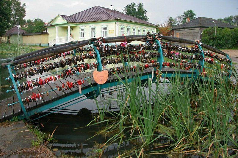 Мост влюбленных в Дмитрове
