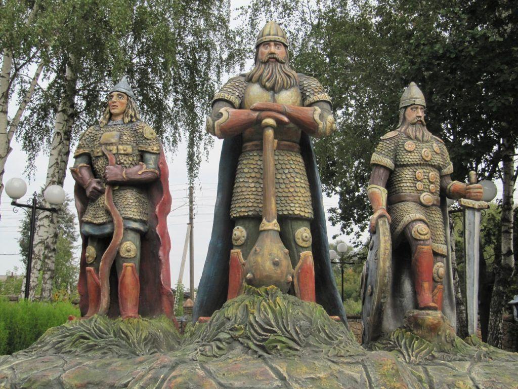 Парк Три богатыря в г.Козельск